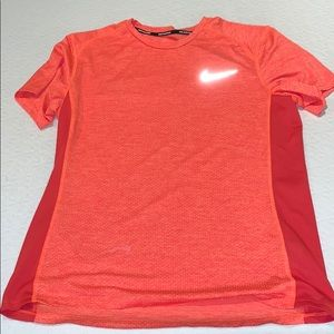 Nike Running Dri Fit Shirt Orange L